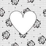 Heart on a background of floral lace Stock Photo