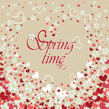 Heart background with flowers.Spring time Royalty Free Stock Photos