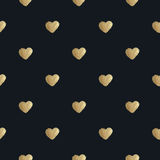 Heart background. Golden paint. Seamless pattern. Royalty Free Stock Photography
