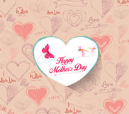 Heart background. Greeting card for Mothers Day Stock Image