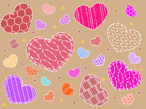 different hearts Royalty Free Stock Photos