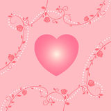 Heart background icon great for any use. Vector EPS10. Royalty Free Stock Photography