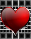Heart on background. Image representing a read heart on a black background made with squares Royalty Free Stock Images
