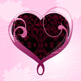 Heart Background Indicates Valentines Day And Affection Stock Photos