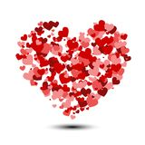 Heart background with lot of valentines hearts. On white background Stock Image