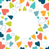 Heart background pattern. Royalty Free Stock Photo