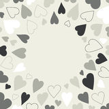Heart background pattern. Royalty Free Stock Images