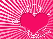 Heart background in pink Royalty Free Stock Images