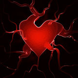 Heart background. Red heart background - 3d render Royalty Free Stock Photo