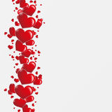 Heart background. Red heart background in paper white Stock Images