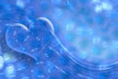 Heart background refreshing aquatic. Blue heart on a background refreshing aquatic Royalty Free Stock Photo