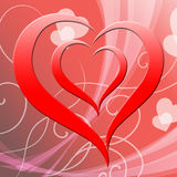 Heart Background Represents Valentine Day And Affection Royalty Free Stock Images