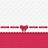 Heart background with ribbon pink Royalty Free Stock Photos