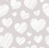 Heart, background, seamless, gray, vector. Royalty Free Stock Image