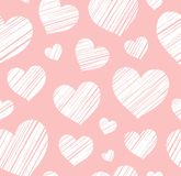 Heart, background, seamless, pink, vector. Royalty Free Stock Photo