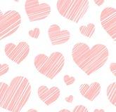Heart, background, seamless, white, vector. Stock Photo