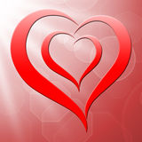 Heart On Background Shows Valentines Love Stock Photography