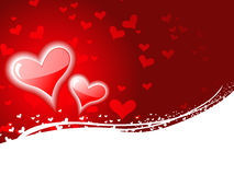 Heart background with space for text Stock Image