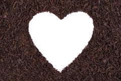 Heart on a background of tea Royalty Free Stock Photo