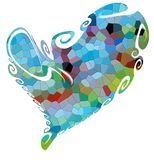 Heart background and texture, contrasts and abstract colors Stock Images