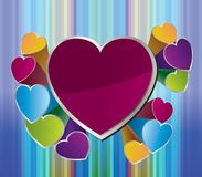 Heart background for valentine day Stock Photography