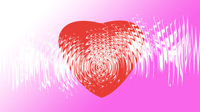 Heart on background. For valentine day Stock Images