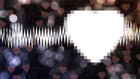 Heart on background. For valentine day Vector Illustration