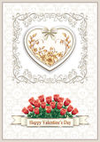 Heart background on Valentine's Day Royalty Free Stock Image