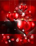 Heart Background for Valentine's flyer Royalty Free Stock Images