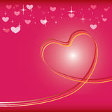 Heart background vector Royalty Free Stock Photo