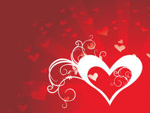 Heart background vector Stock Photography