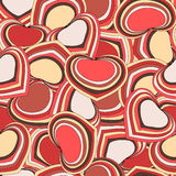 Heart background. Vector seasmless pattern with hearts Stock Images