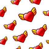 Heart background with wings Royalty Free Stock Images