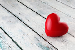 Heart background. Heart on wood background with copy space Stock Photo