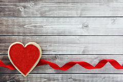 Heart background. Heart on wood background with copy space Stock Photography