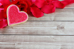 Heart background. Heart on wood background with copy space Stock Photos