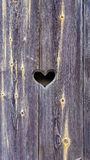 Heart on a background of wooden boards Stock Photography