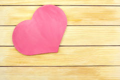 Heart on the background of wooden slats Royalty Free Stock Image