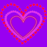 Heart background2 Royalty Free Stock Image