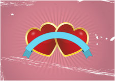 Heart badge Royalty Free Stock Images