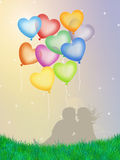 Heart ballons Royalty Free Stock Photo