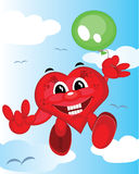 Heart with balloon Royalty Free Stock Image
