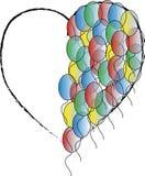 Heart balloon. Heart with one half from balloons Stock Photos