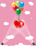 Heart and balloon Stock Photos