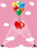 Heart and balloon Stock Photos