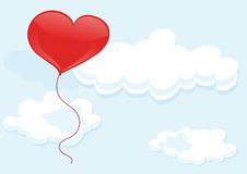 Heart balloon Stock Image