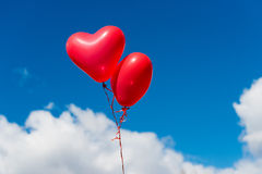 heart balloon against blue sky background Royalty Free Stock Photo