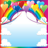 Heart Balloon Background Royalty Free Stock Images