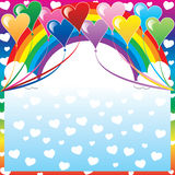 Heart Balloon Background Royalty Free Stock Photo