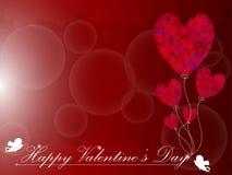 Heart Balloon Background. EPS 10 Vector Stock Photo